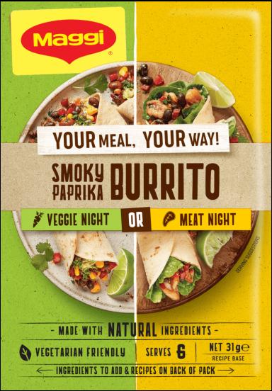 MAGGI Smoky Paprika Burrito - Front of Pack