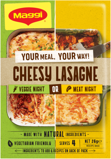 MAGGI Cheesy Lasagne - Front of Pack