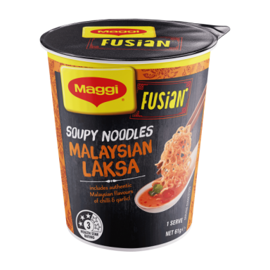 FUSIAN Soupy Noodles Malaysian Laksa Front of Cup
